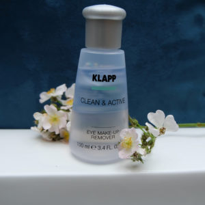 clean and active, eye make up remover